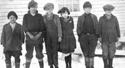 Aleut children from the senior school on St Paul Island 1925